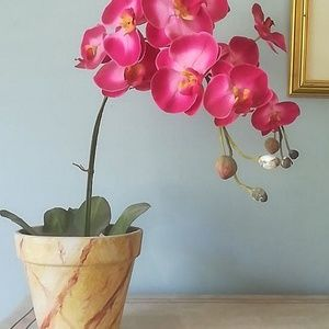 Potted Faux Orchid